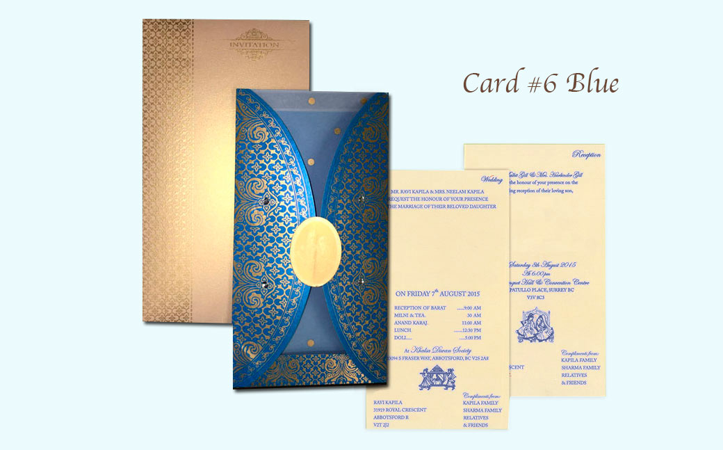 Wedding Cards Print Indian Style in Surrey and Vancouver |